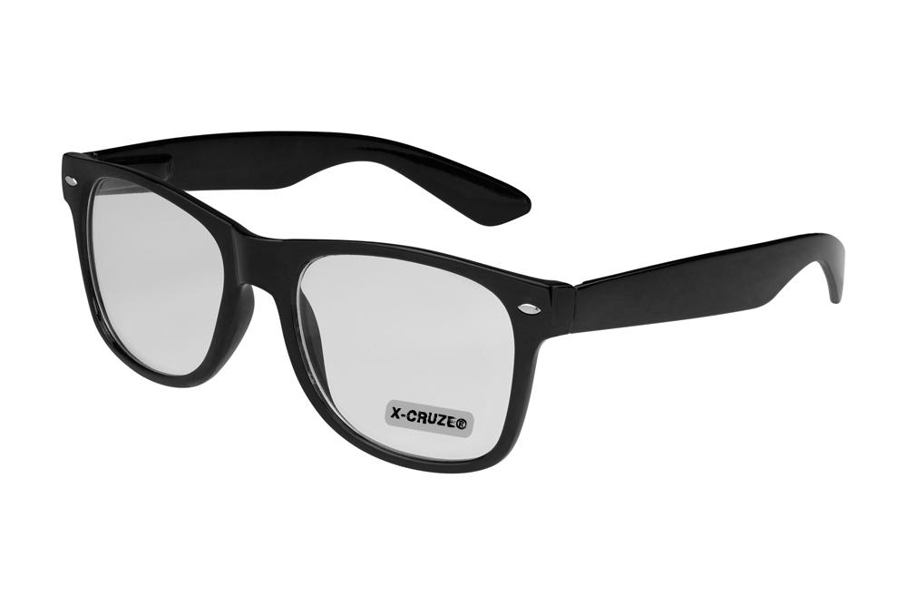 Nerd-Brille-Wayfarer-Damen-Hornbrille-Fensterglas-Klar-Klarglas-ohne-Staerke