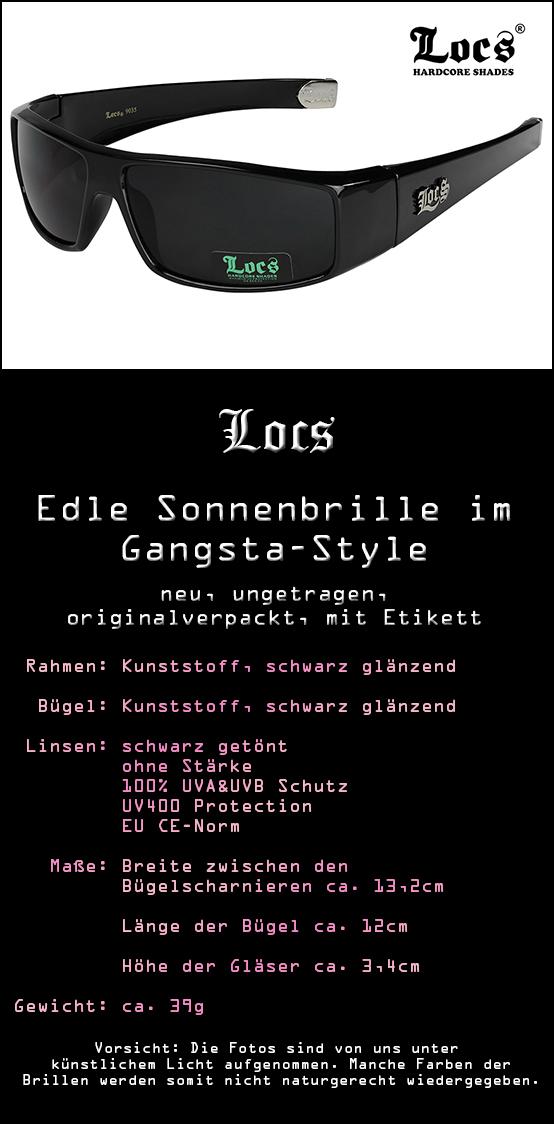 Locs OG Original Gangsta 9041 Gangster Sonnenbrille Herren Damen Männer schwarz