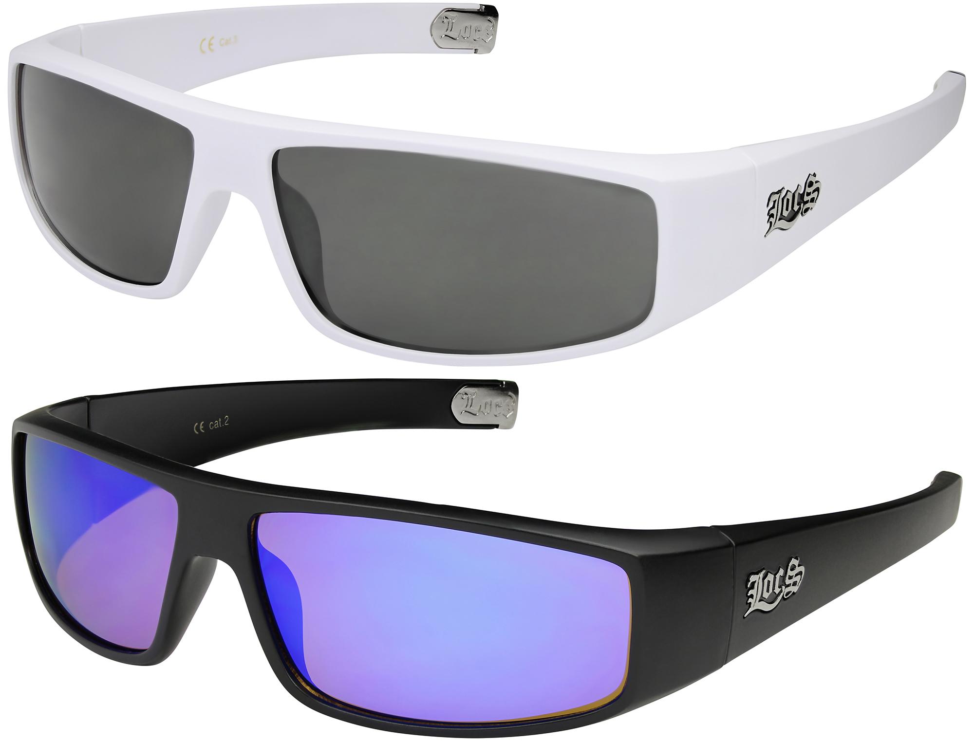 2er Pack Choppers 911 Locs Rad Brille Sonnenbrille Männer Frauen schwarz silber Kleding en accessoires Zonnebrillen