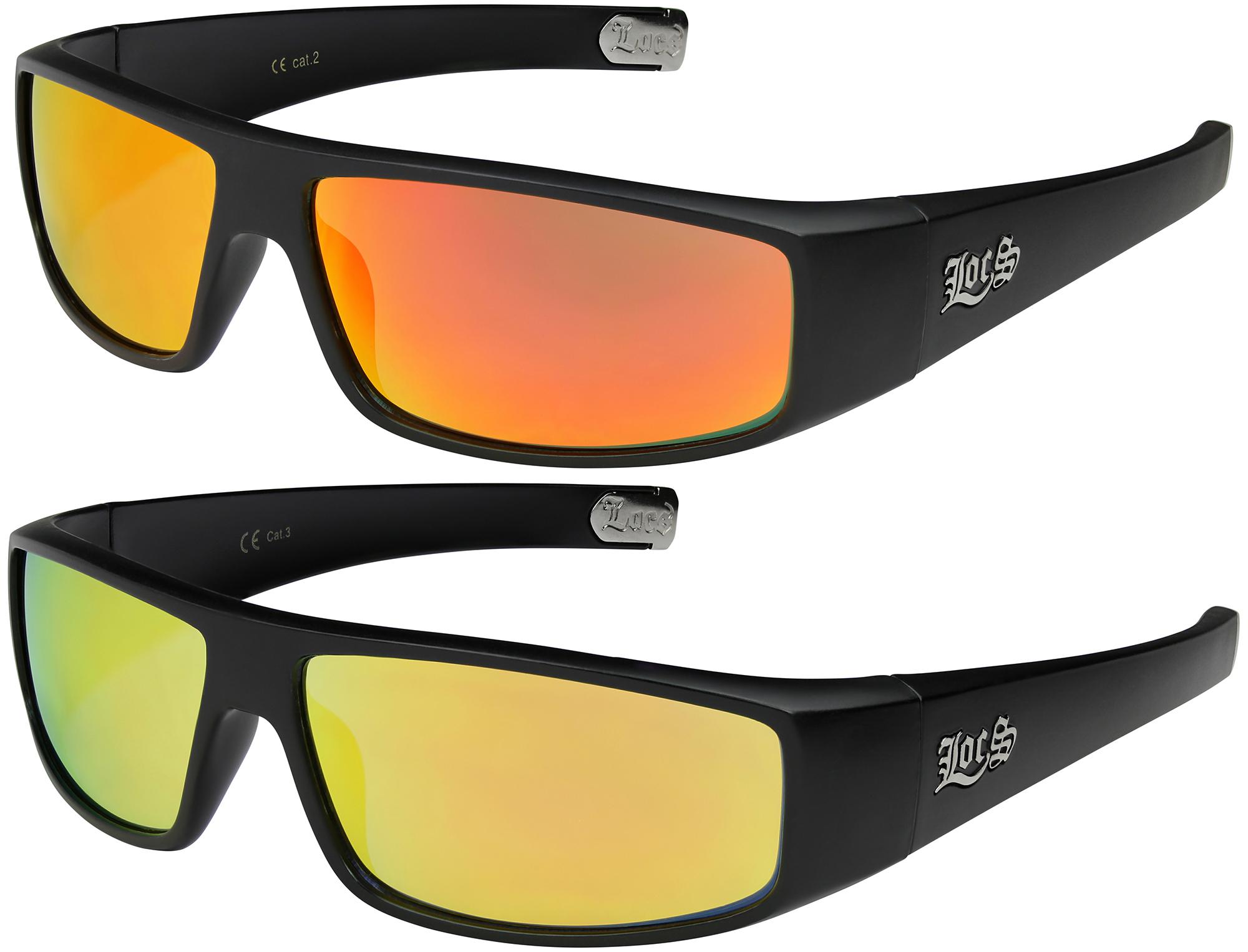 2er Pack Choppers 6608 Locs Sonnenbrille Schutzbrille Herren Damen schwarz weiß